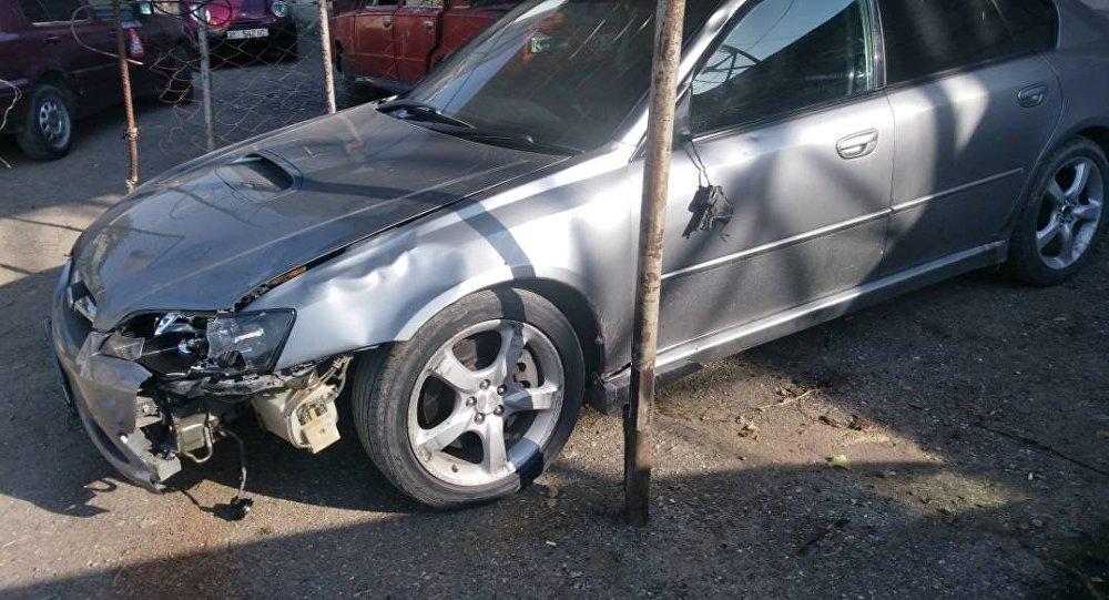 Автомобиль на котором был совершен наезд на пешехода в селе Жаны-Арык Кара-Суйского р-на