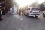 Бишкектин чок ортосунда маршрутка менен жол тандабас кагышты