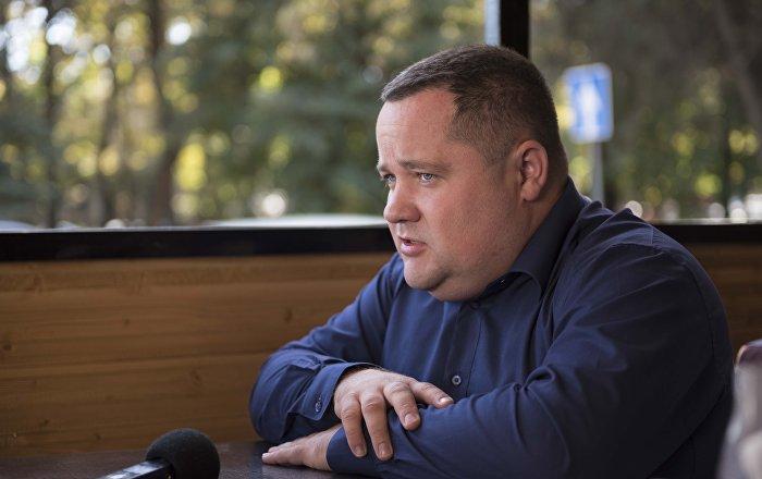 Президент единого правового центра Вигенс Владимир Плужник во время интервью