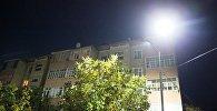 Освещение придомовых территорий многоэтажек в Оше