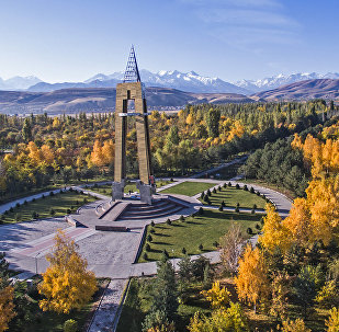 Вид на парк имени Даира Асанова в Бишкеке. Архивное фото