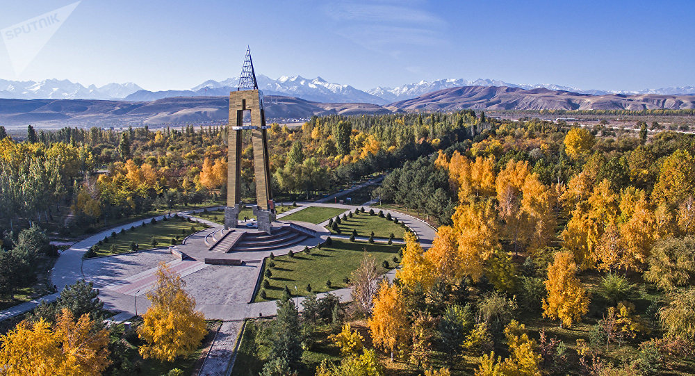 Вид с дрона на парк имени Даира Асанова в Бишкеке. Архивное фото