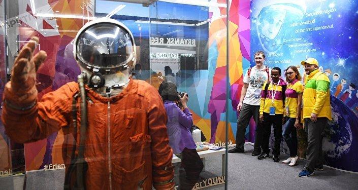 Выставка Youth Expo в главном медиацентре Олимпийского парка в Сочи в рамках XIX Всемирного фестиваля молодежи и студентов.