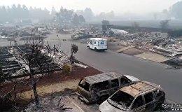 Апокалипсис в Калифорнии — почтальон развозит почту в сгоревшем городе