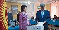 Өлкө башчысы Алмазбек Атамбаев шайлоого катышты