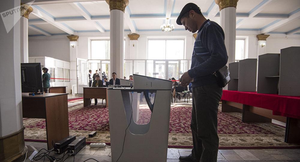 Ход выборов президента Кыргызстана в Бишкеке