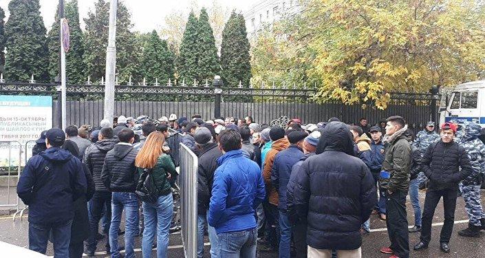 Акция протеста мигрантов в Москве на президентские выборы