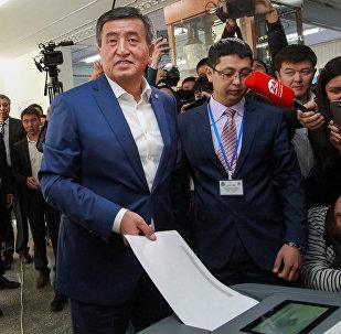 Кандидат в президенты Сооронбай Жээнбеков