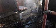 Пожар троллейбуса №17 в Бишкеке