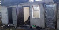 Последствия массового поджога в селе Маевка Аламудунского района