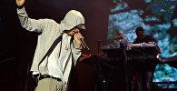 Архивное фото американского рэпера Эминема