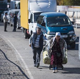 Ситуация на КПП Ак-Тилек на кыргызско-казахской границе