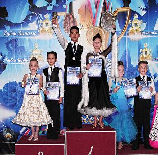 Кыргызстанцы завоевали пять медалей на международном турнире по спортивным бальным танцам Динамиада - 2017