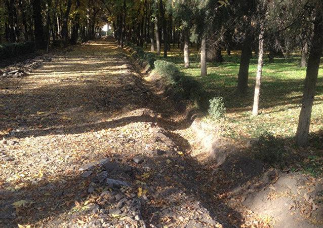 В парке имени Фучика полным ходом идет реконструкция и строительство новых пешеходных дорожек, тротуаров с размещением дополнительных беговых и велосипедных дорожек