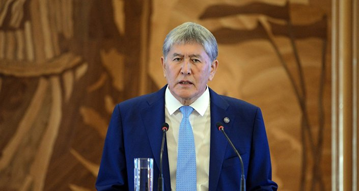 Архивное фото президента Кыргызской Республики Алмазбека Атамбаева