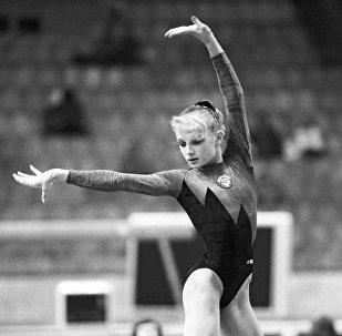Архивное фото спортсменки по спортивной гимнастике Татьяны Гуцу