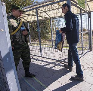 Ситуация на КПП Ак-Тилек на кыргызско-казахской границе. Архивное фото