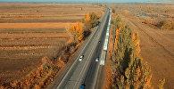 Восьмикилометровая пробка на границе с Казахстаном — впечатляющая аэросъемка