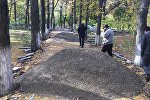 Бишкек шаарынын Биринчи Май районунун акими Аскербек Алиев Жаштар паркында көчмө жыйын өткөргөн