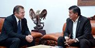 Лидирующий в президентской гонке Сооронбай Жээнбеков