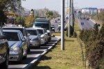 Автомобили на улице Масалиева в Бишкеке. Архивное фото