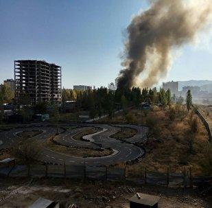 Бишкектин Асанбай кичирайонунда өрт чыккан