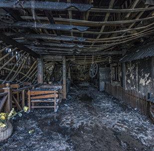 Пожар в районе парка Асанбай в Бишкеке