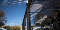 Пассажир в троллейбусе. Архивное фото