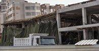 Последствия обрушения части строящегося здания компании Авангард-Стиль в Бишкеке