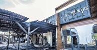 Пожар нескольких кафе в районе парка Асанбай в Бишкеке. Архивное фото