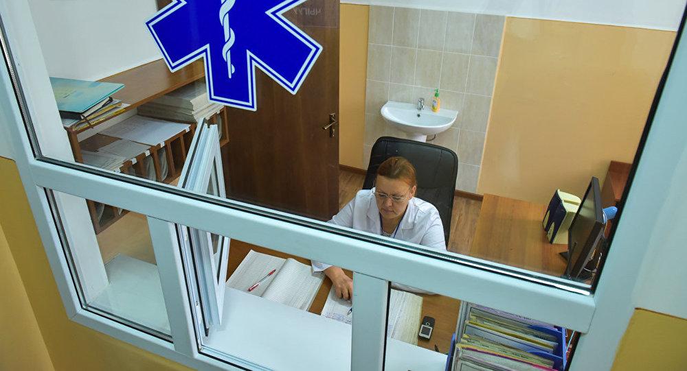 Регистрационная в больнице в Бишкеке. Архивное фото