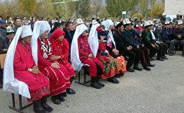 Памирские кыргызы в селе Куланак Нарынского района. Архивное фото