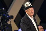 Кандидат в президенты КР, экс-депутат ЖК Азимбек Бекназаров на теледебатах на канале КТРК