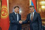 Премьер-министр Сапар Исаков Армениянын өкмөт башчысы Карен Карапетян менен жолукту