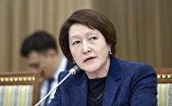 Председатель Центральной комиссии по выборам и проведению референдумов Нуржан Шайлдабекова во время заседания в ЖК