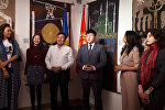 Киевде кыргыз сүрөтчүлөрүнүн көргөзмөсү ачылганын КР Тышкы иштер министрлигинин маалымат кызматы билдирди