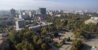 Вид на парк революции в Бишкеке с высоты. Архивное фото
