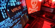 Компьютер атакованный вирусом. Архивное фото