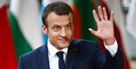 Архивное фото президента Франции Эммануэля Макрона