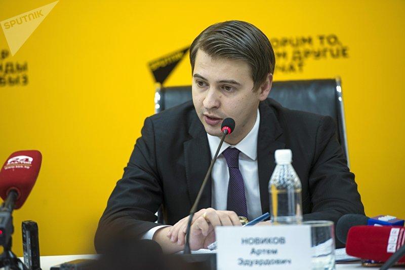 Министр экономики Кыргызстана Артем Новиковна пресс-конференции в МПЦ Sputnik Кыргызстан