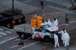 Последствия наезда на велосипедистов и прохожих в Нью-Йорке