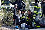 Пострадавшая в результате наезда на велосипедистов и прохожих в Нью-Йорке