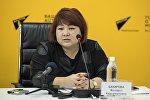 Республикалык наркология борборунун усулдук уюштуруу бөлүмүнүн башчысы Жылдыз Бакирова