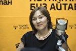 Врач Национального центра онкологии Кыргызстана Чынара Батырканова во время интервью на радио Sputnik Кыргызстан