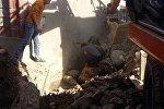 Ош шаарынын Памир көчөсүндө жайгашкан турак үйдүн дубалы кулап, уранды алдында калган эки адам каза болду