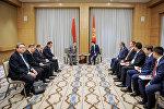 Премьер-министр Кыргызской Республики Сапар Исаков 2 ноября, в городе Ташкент (Республика Узбекистан) встретился с Премьер-министром Республики Беларусь Андреем Кобяковым.