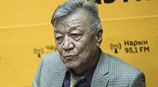 Директор Института сейсмологии Национальной академии наук КР Канатбек Абдрахматов во время интервью на радио Sputnik Кыргызстан