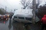 Бишкекте үч микроавтобус кагышты