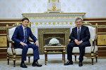 Премьер-министр Сапар Исаков Өзбекстандын президенти Шавкат Мирзиёев менен жолукту