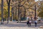 Молодежь в Дубовом парке Бишкека. Архивное фото
